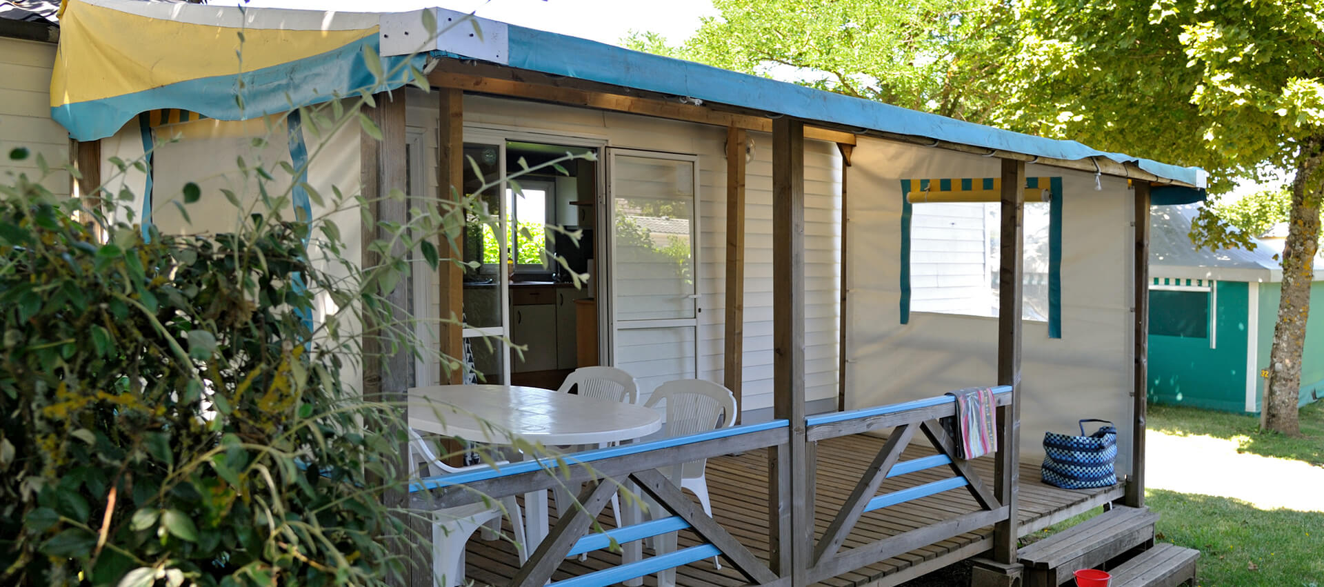 Bleuet mobile home 4 people up for rental located in Aveyron