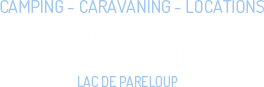 Logo of the campsite Parc du Charouzech near the lake of Pareloup