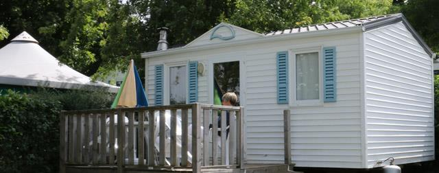 Special offers rentings mobile home 2 bedrooms at the campsite Parc du Charouzech in Aveyron